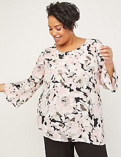 Black Label Georgette Garden Top