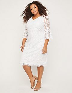 Eyelash Lace Shift Dress