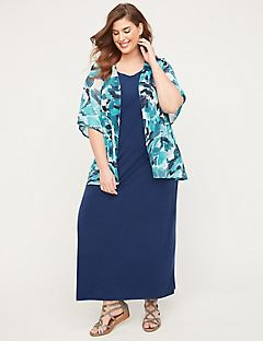 Coneflower Maxi Jacket Dress