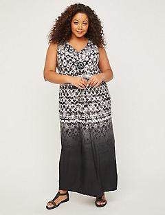 Whisper Medallion Twist Maxi Dress
