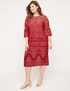 Paisley Fade Shift Dress