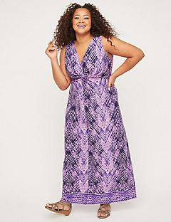 Skyline Breeze Twist-Knot Maxi Dress