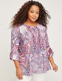 Paisley Plaza Top