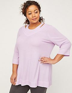 ComfySoft Ribbed Duet Tunic