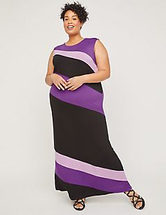 AnyWear Slant Stripe Maxi Dress