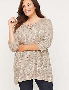 ComfySoft Lace-Up Tunic Top