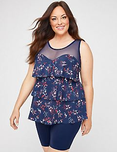 Shooting Star Flounce Tankini Top