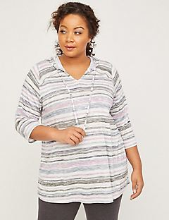 ComfySoft Striped Hooded Top