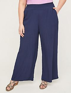 Breezy Crinkle Wide Leg Pants