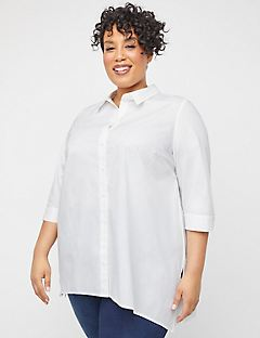 Asymmetrical Buttonfront Tunic