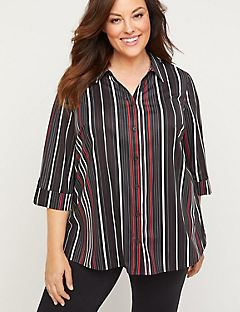 Signature Crepe Buttonfront Top
