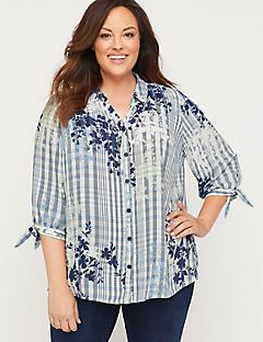 Breezy Georgette Buttonfront Top