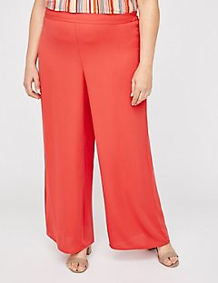 Black Label Wide Leg Pull-On Pants