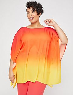 Black Label Sunset Georgette Poncho