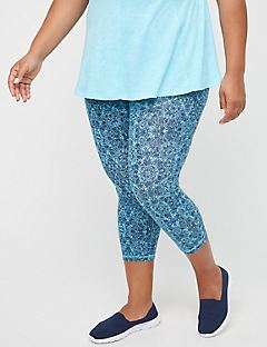 Lake Dot Active Legging Capri