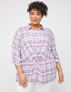 Twist-Knot Buttonfront Top