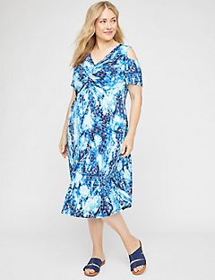 Bermuda Twist-Knot Midi Dress
