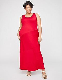 Elmhurst Seamed Maxi Dress