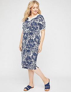 Midnight Tropics Shift Dress