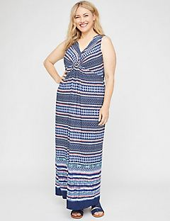 Crescent Park Medallion Maxi Dress
