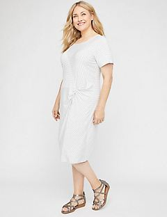 Twisted Stripe A-Line Dress