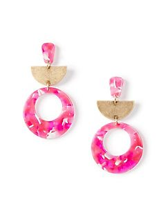 Pop of Pink Drop Earrings