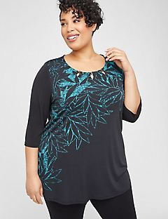 AnyWear Floral Sketch Tunic