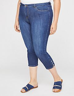 The Button-Hem Jegging Capri