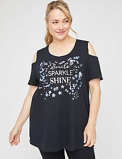 Star Bright Open-Shoulder Tunic