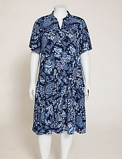 Paisley A-Line Shirtdress