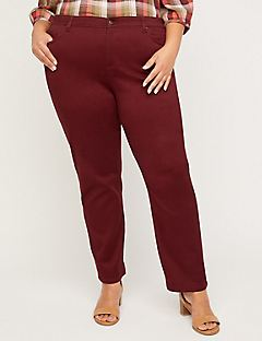 Sateen Stretch Pant with Comfort Waist