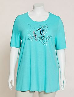 Sparkling Seahorse Swing Tunic