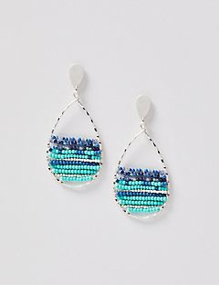 Malibu Seed Bead Teardrop Earrings