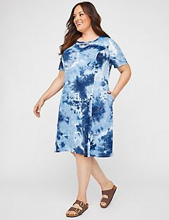 Lakeside Tie-Dye A-Line Dress (With Pockets)