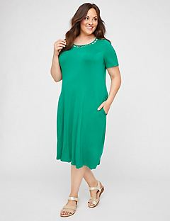 Elysian Heights A-Line Dress (With Pockets)