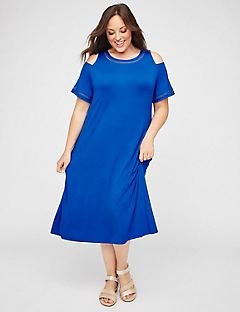AnyWear Diamond-Stitch Midi Dress