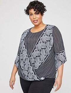 Riverbend Georgette Duet Top