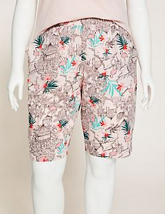 Flamingo Flair Cotton Sleep Short