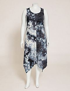 Suncoast Tie-Dye A-Line Midi Dress