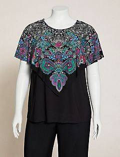 AnyWear Garden Paisley Layered Top