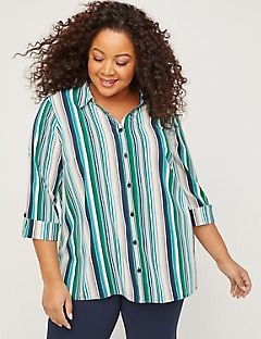 Easy Signature Crepe Buttonfront Top