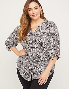 Cottage Georgette Buttonfront Top