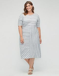 Lakeside Striped Shift Dress