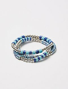 3-Row Pacific Springs Stretch Bracelets