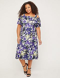 Field of Pansies Fit & Flare Dress