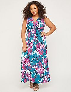 Expressive Twist-Knot Maxi Dress