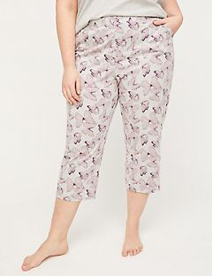 Butterfly Blush Cotton Sleep Capri
