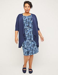Ocean Bloom Jacket Dress