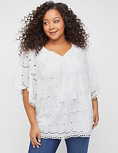 Harborview Eyelet Top