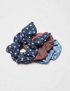 Stars & Stripes Scrunchies 3-Pack